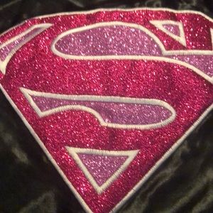 Costumes - Black and pink girls Supergirl Cape NWT